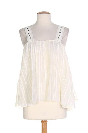 ambre babzoe t-shirts / tops femme de couleur blanc
