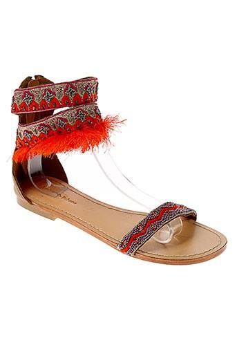 ambre et babzoe sandales et nu et pieds femme de couleur orange