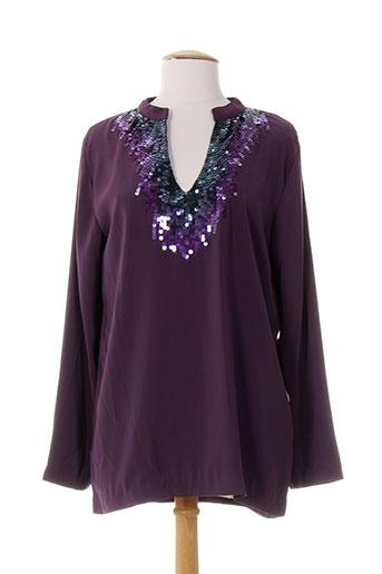 ankorel tuniques femme de couleur violet