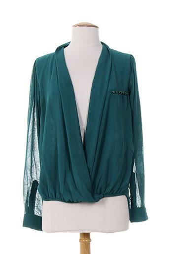 ankorel chemises femme de couleur vert