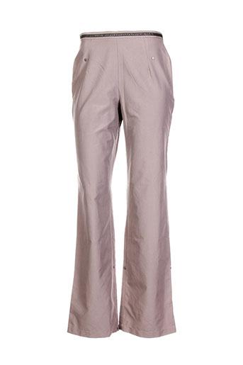 Pantalon chic vert CARNET DE BORD pour femme