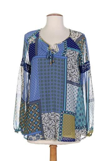 tinta style chemises femme de couleur bleu