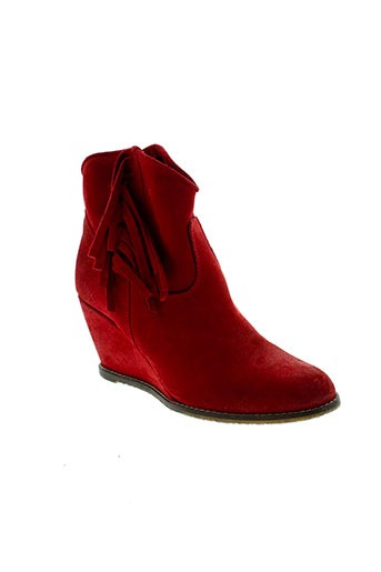 meline boots femme de couleur rouge