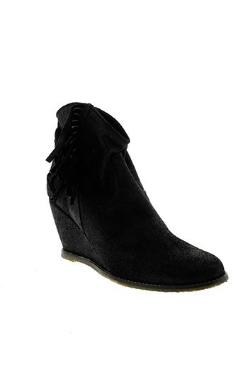 meline boots femme de couleur noir