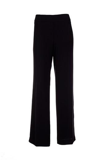 villa bleue pantalons femme de couleur noir