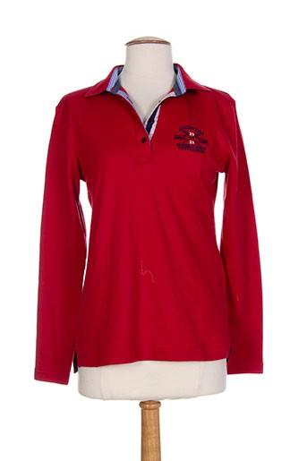 vestiaires et principaute et cannoise polos femme de couleur rouge