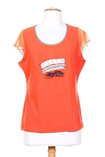 perspectives t-shirts femme de couleur orange