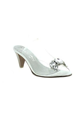 madison sandales et nu et pieds femme de couleur blanc