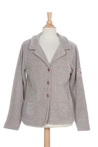 3 et pommes vestes fille de couleur gris (photo)