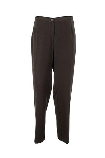 impulsion pantalons femme de couleur marron