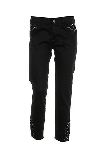 missing johnny pantalons femme de couleur noir