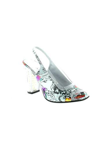 azuree sandales et nu et pieds femme de couleur gris