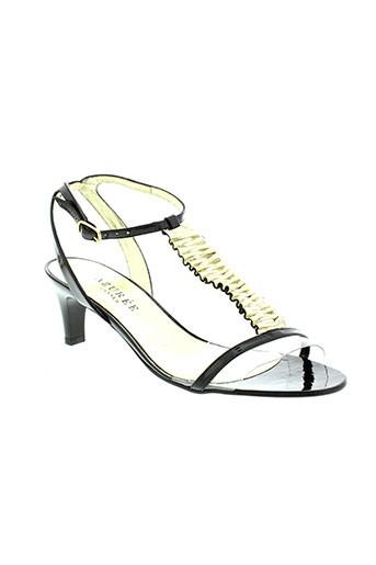 azuree sandales et nu et pieds femme de couleur noir