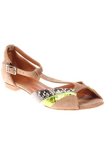 new lovers chaussures femme de couleur beige