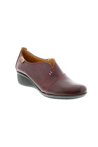 pikolinos chaussures femme de couleur rouge