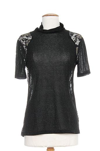 pianurastudio chemises femme de couleur noir