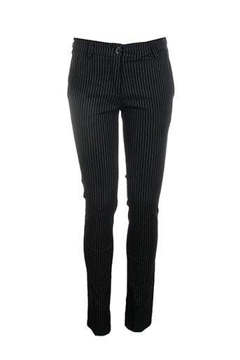 antonello serio pantalons femme de couleur noir