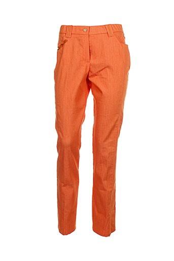 jean gabriel pantalons femme de couleur orange