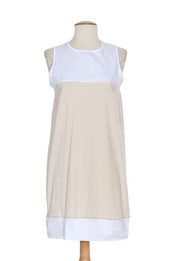 alpha massimo rebecchi robes femme de couleur beige