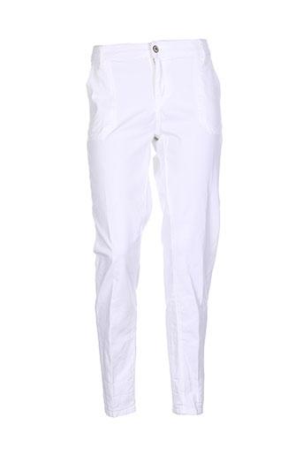Pantalon casual blanc FIVE pour femme