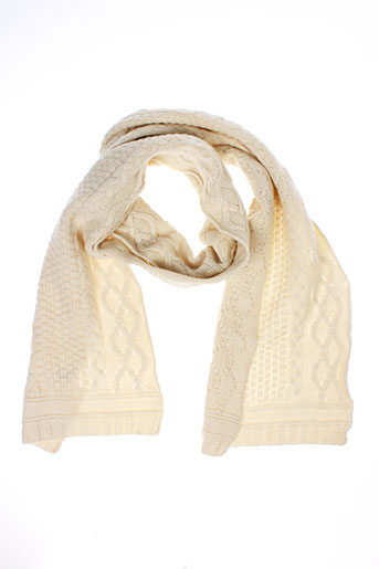 ba et sh echarpes et gants femme de couleur blanc