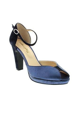 mellow et yellow sandales et nu et pieds femme de couleur bleu