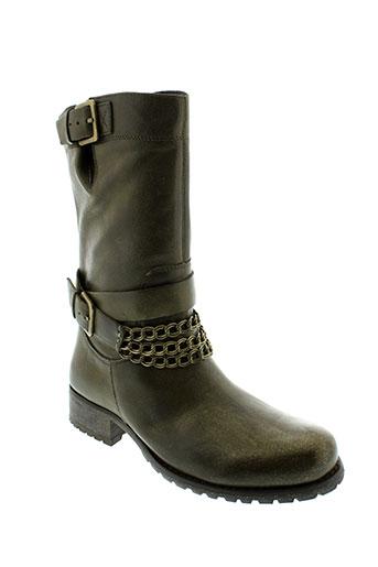axell chaussures femme de couleur vert