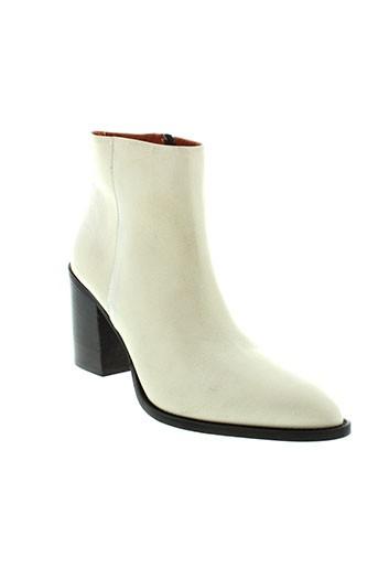 elizabeth et stuart boots femme de couleur beige