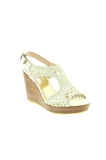 mellow yellow chaussures femme de couleur blanc