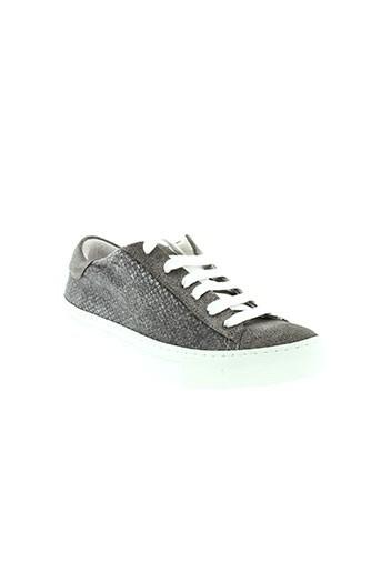 axell baskets femme de couleur gris