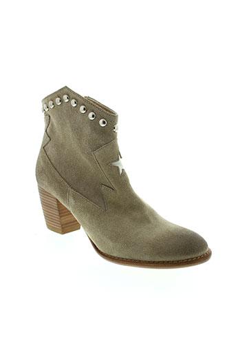 auguste chaussures femme de couleur beige