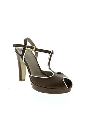 noe chaussures femme de couleur marron