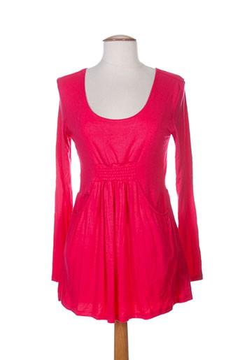 amari t-shirts femme de couleur rouge
