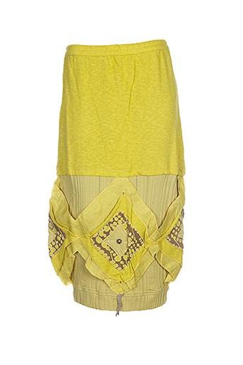 caty lesca jupes femme de couleur jaune