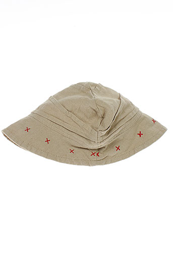3 et pommes chapeaux et bonnets enfant de couleur beige (photo)