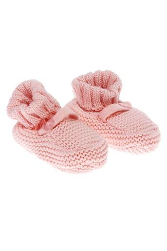 absorba chaussons fille de couleur rose