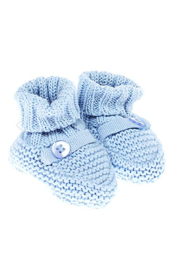 absorba chaussons garcon de couleur bleu