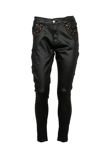 adb et denim pantalons et decontractes femme de couleur noir