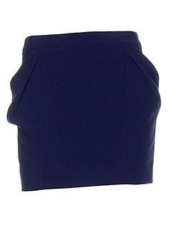 Mini-jupe bleu WHO'S WHO pour femme
