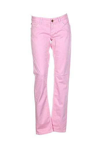 Pantalon casual rose FRANKIE MORELLO pour femme