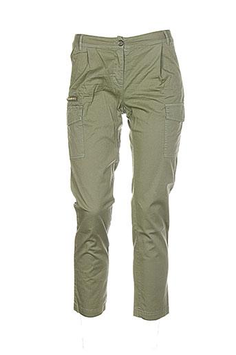 Pantalon casual vert BLUGIRL FOLIES pour femme