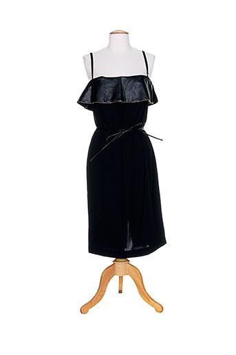 Robe mi-longue noir FRANKIE MORELLO pour femme