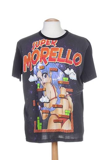 T-shirt manches courtes noir FRANKIE MORELLO pour homme