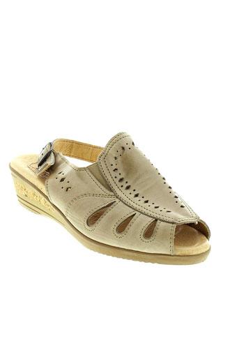 boissy sandales et nu et pieds femme de couleur beige