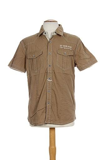 gov denim chemises homme de couleur marron