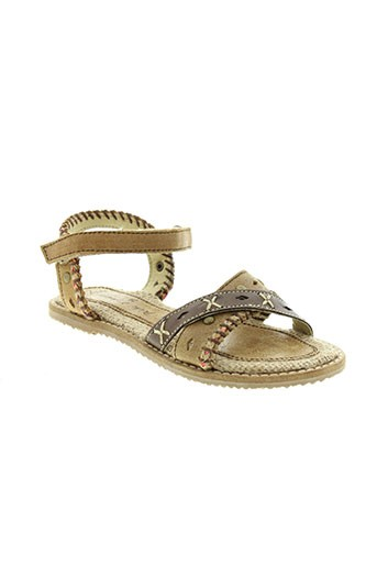 peche et d et amour sandales et nu et pieds fille de couleur beige