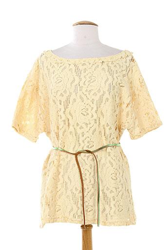 momoni chemises femme de couleur beige