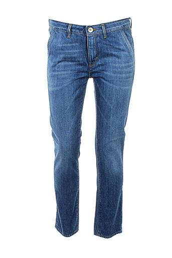 haikure jeans femme de couleur bleu