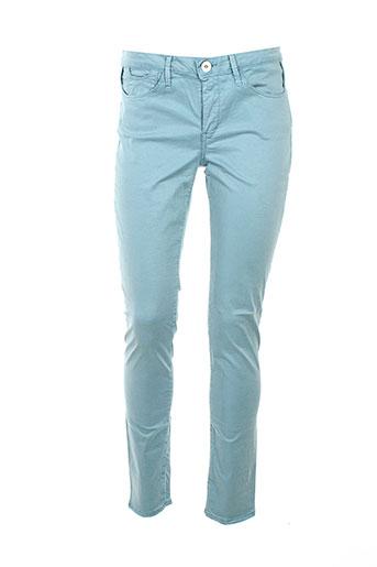 haikure pantalons femme de couleur bleu