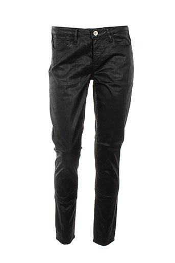 haikure pantalons femme de couleur noir
